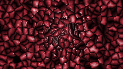4K Loopable Animation of Slime Germs or brain or maggot background Animation