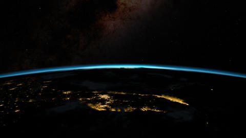 Sunrise from space. Earth from space Stock Video Footage