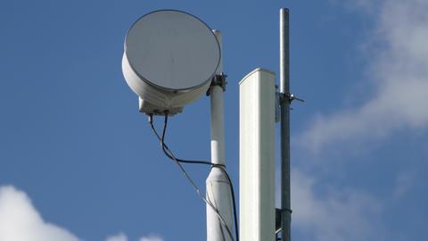 Telecommunication tower timelapse Footage