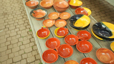 Pottery handmade, Beautiful vessels, cups, dishes and souvenirs GIF