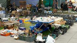 Flea market. Antique market Footage