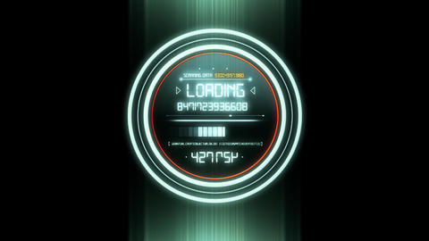 White HUD Data Loader Interface Loopable Graphic Element V2 Animation