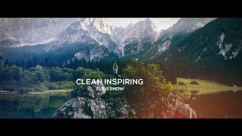 Inspiring Slideshow After Effects Template
