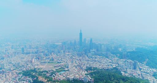 taipei city panorama in the taiwan Footage