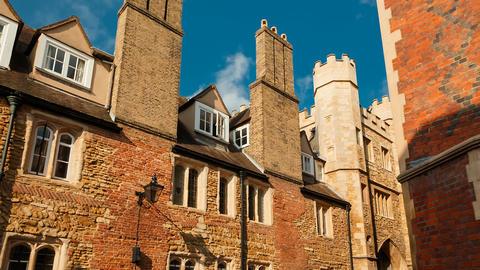 Trinity College, Cambridge, England, UK Live Action