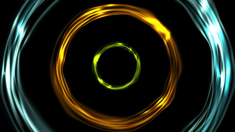 Glowing colorful ring circles video animation Animation