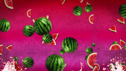 Watermelon Background Loop CG動画素材