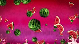 Watermelon Background Loop Stock Video Footage