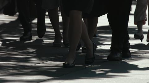 Slowmotion - Commuters People Sidewalks Summer Tokyo ビデオ