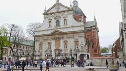 Saints Peter and Paul Church, Krakow, Poland Footage