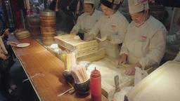 4k video of Chefs making Shanghai dumplings for sale Archivo