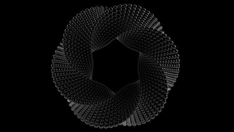 Transforming Mobius torus made of balls. 3D graphics related loopable animation Footage