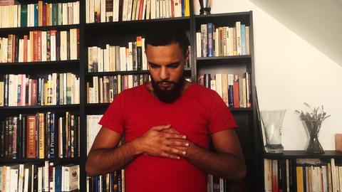 Muslim man in praying Islam 4K Footage