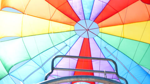 Close up of parachute for parasailing Footage