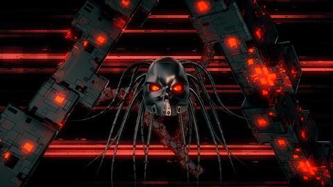 Cyborg Head VJ Loop Animation