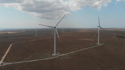 Wind Turbines. Green energy GIF