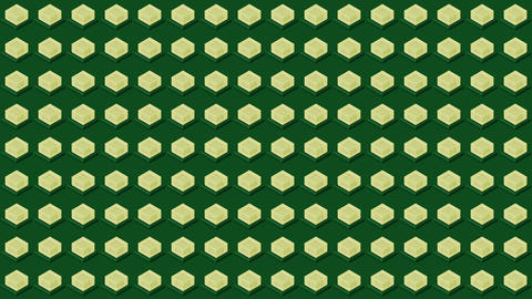 Abstract isometric background cubes lights bulbs flashing Animation