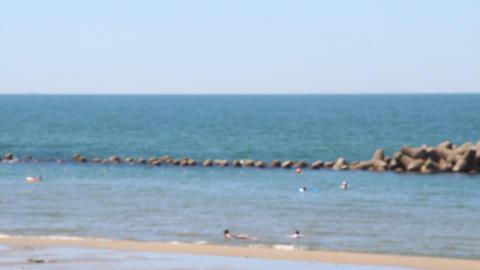 海水浴場 ピントぼかし ビデオ