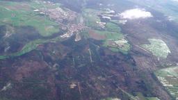Flying over Stuttgart area in winter Archivo