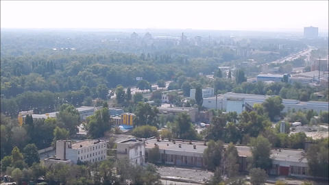Panorama of the city from the hills and mountains Live Action