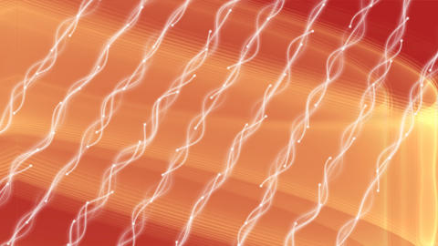 Flow of energy, currents of energy on an orange wavy background, diagonal Animation