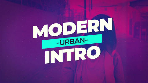 Urban Glitch Intro After Effects Template