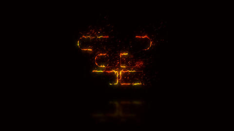 Burning Stroke Logo After Effects Template