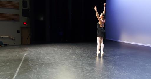 Ballet dancer dancing on stage 4k Live Action