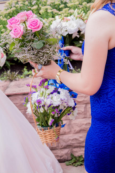 Wedding bouquet. Bride's flowers フォト