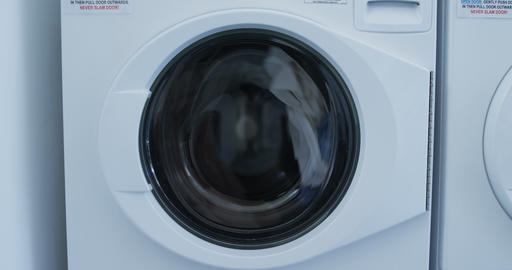 Washing machine washing clothes 4k Live Action