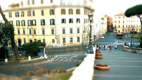 Tilt shift on Piazza Venezia, Rome Live Action
