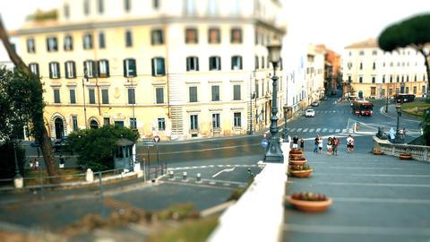 Tilt shift on Piazza Venezia, Rome Footage