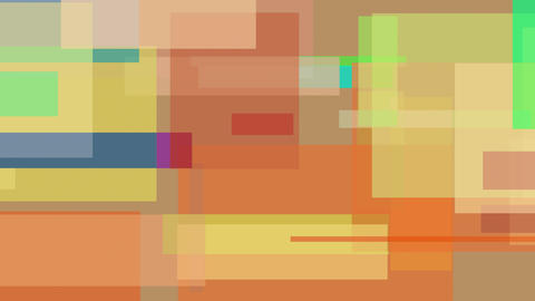 Moving abstract multicolor rectangles. Loopable motion background Live Action