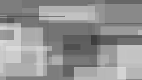 Grey, black and white abstract rectangles motion background Live Action