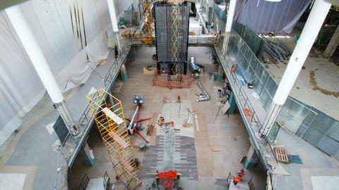 interesting entertainment center building process timelapse Footage