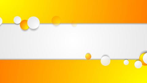 Orange and grey circles corporate video animation Animation