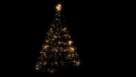 Christmas Tree Sparkles Background Animation