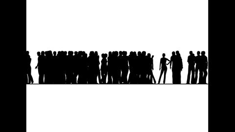 Crowd of people moves.3D animation and rendering Animation