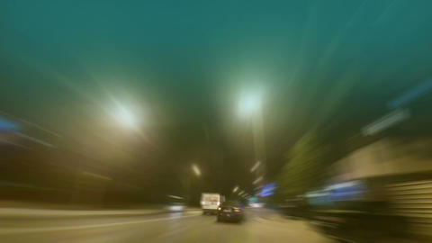 Timelapse of traffic at night .Blurred motion movement Animation