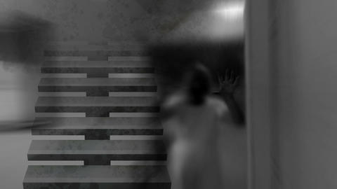 Horror Zombie , mixed media of two CG animation Animation