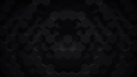 Abstract geometric hexagon loop - 3D animation Animation