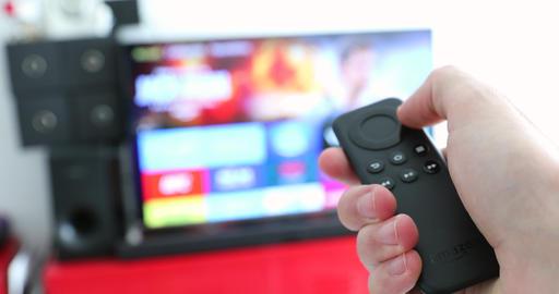 Black Amazon Fire TV Remote - 4K Video Live Action