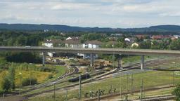 German Town Panorama Stock Video Footage