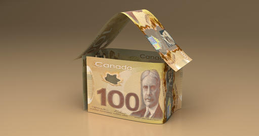 Real Estate with Canadian Dollar Animation