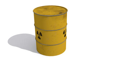 3d animation of metal barrel full with biological materials that present a risk Animation