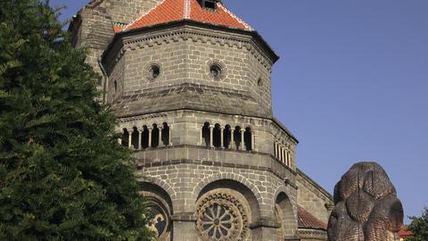 Gothic and renaissance Basilica Saint Procopius in Trebic monastery, UNESCO GIF