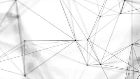 Abstract Random Digits Digital Plexus Tunnel Funnel Loop Motion Background Footage