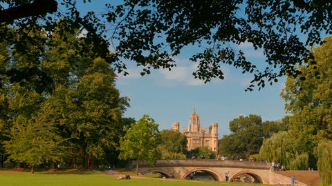 Kings College, Cambridge, England, UK Live Action