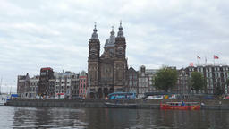 Basilica of St. Nicholas, Amsterdam and Surrounding Buildings Footage