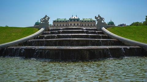 Timelapse of Belvedere Garden in Vienna, Austria Footage